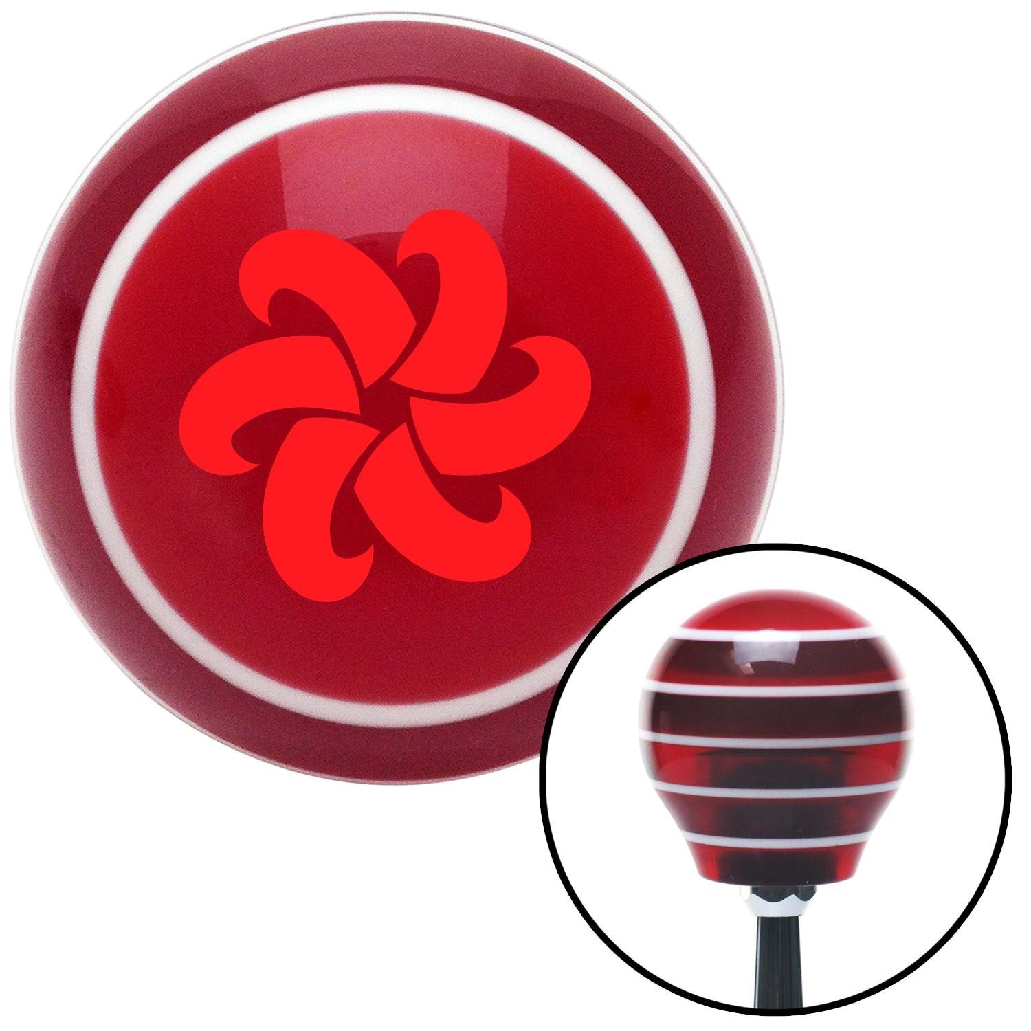 Red Fan Blades Spinning American Shifter 113111 Red Stripe Shift Knob with M16 x 1.5 Insert