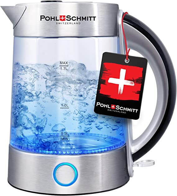 Pohl Schmitt 1.7L Electric Kettle with Upgraded Stainless Steel Filter