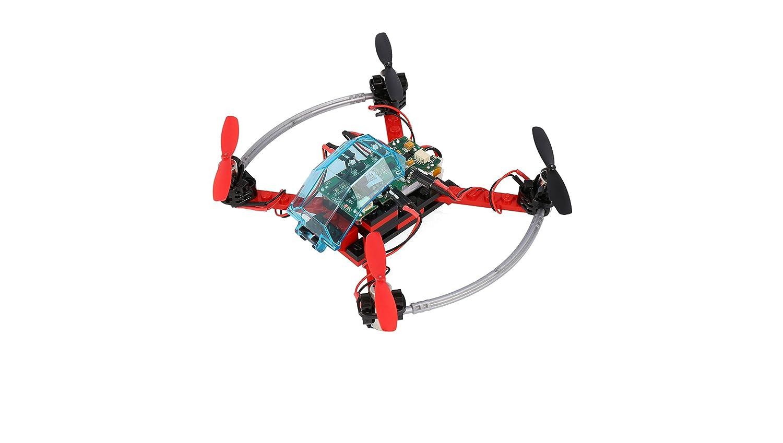 FLY-GO ARF dron Rojo Negro con Control Remoto komplettkit: Amazon ...