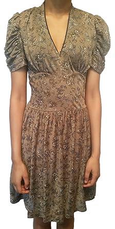 Mango Damen Kleid Mehrfarbig Braun Grau X-Small  Amazon.de  Bekleidung ecb67b9e3d