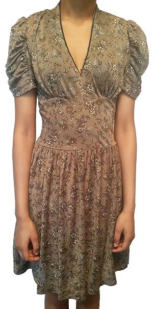 MANGO - Vestido - Vendimia - para Mujer Brown/Grey XS
