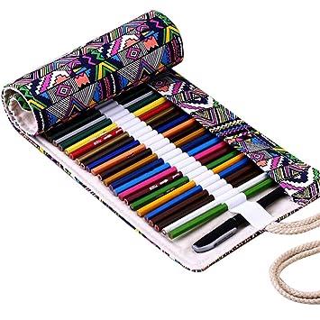 Estuche para guardar lápices de colores Fablcrew, de tela ...
