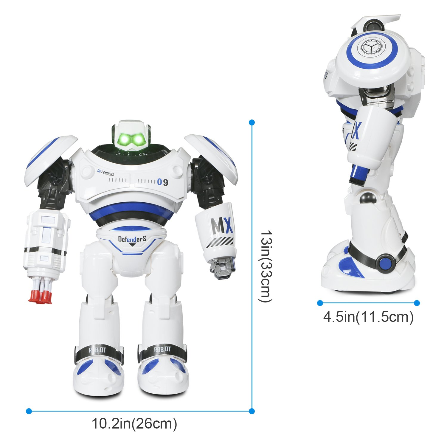 SGILE RC Robot Toy, Programmable Intelligent Walk Sing Dance Robot for Kids Gift Present, White by SGILE (Image #5)
