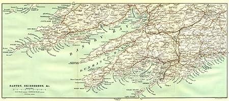 Skibbereen Ireland Map.Ireland Bantry Skibbereen C 1906 Old Antique Vintage Map