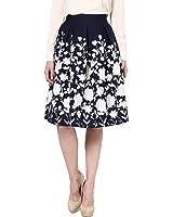 Harpa Women's A-Line Skirts (GR2670_Navy_28)