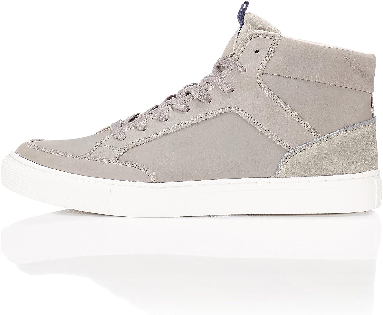 Amazon Marke: find. Herren Hohe Leder Sneaker