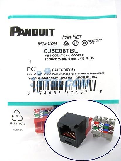 panduit rj45 cat5e tx-5e ethernet jack modules black cj5e88tbl - twenty  (20) units: amazon ca: tools & home improvement