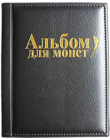 25c1d6cf18 VORCOOL Raccoglitore per Monete da Collezione Album Portamonete 250 Tasche  (Nero)