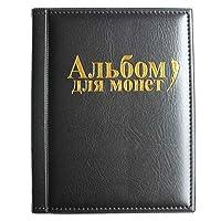 VORCOOL Raccoglitore per Monete da Collezione Album Portamonete 250 Tasche (Nero)