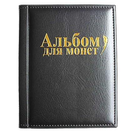 727b615bbd VORCOOL Raccoglitore per Monete da Collezione Album Portamonete 250 Tasche  (Nero): Amazon.it: Casa e cucina