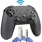 【赤字覚悟・在庫徹底処分】スイッチ コントローラー 無線 プロコン Bluetooth ワイヤレス switch pro ジャイロセンサー モーター振動 連射機能搭載 黒