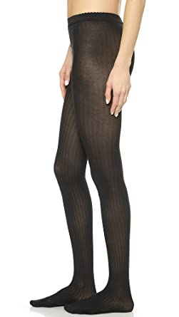007a3010c Wolford Women s Fine Cotton Rib Tights at Amazon Women s Clothing store