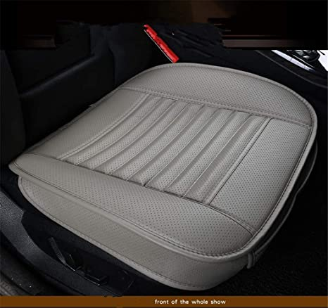 Brilliant Bamboo Charcoal Pu Leather Seat Covers Auto Seat Cushion Pad For Car Front Seats 1 Piece Bamgray Squirreltailoven Fun Painted Chair Ideas Images Squirreltailovenorg