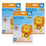 Amazon Price History for:Simba Natural Mosquito Repellent Sticker (16pcs) with Citronella and Lemon Extract/ No DEET, Extra Safe! (3 PCs)