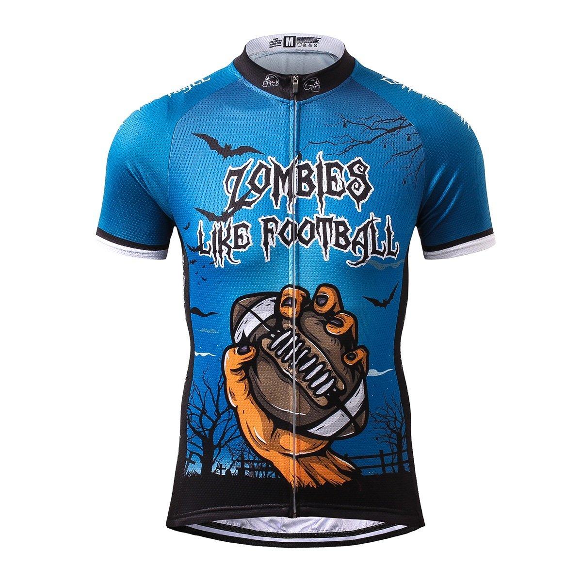 Thriller Rider Sports® Uomo Zombie Like Football Sport e Tempo Libero Abbigliamento Ciclismo Magliette Manica Corta 3 Colors Sports Thriller Rider