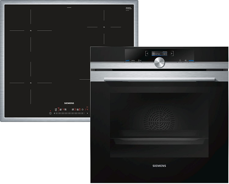 Siemens EQ872EX01R Con placa de inducción Horno eléctrico sets de electrodoméstico de cocina - Sets de electrodomésticos de cocina (Con placa de inducción, ...