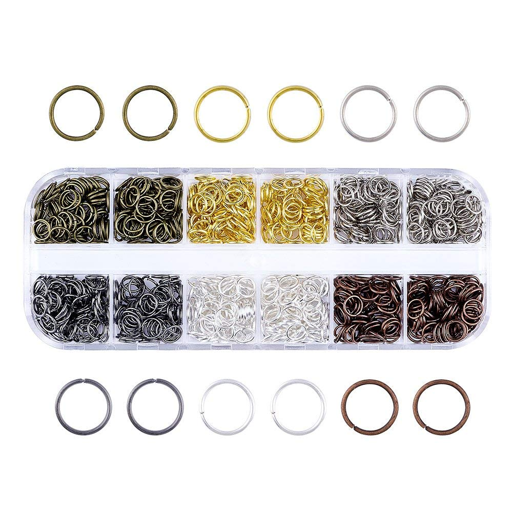 Pandahall 1 Box Stainless Steel Open Jump Rings Set 4mm 5mm 6mm Mixed Sizes Jewelry Keychain Making Findings Rings