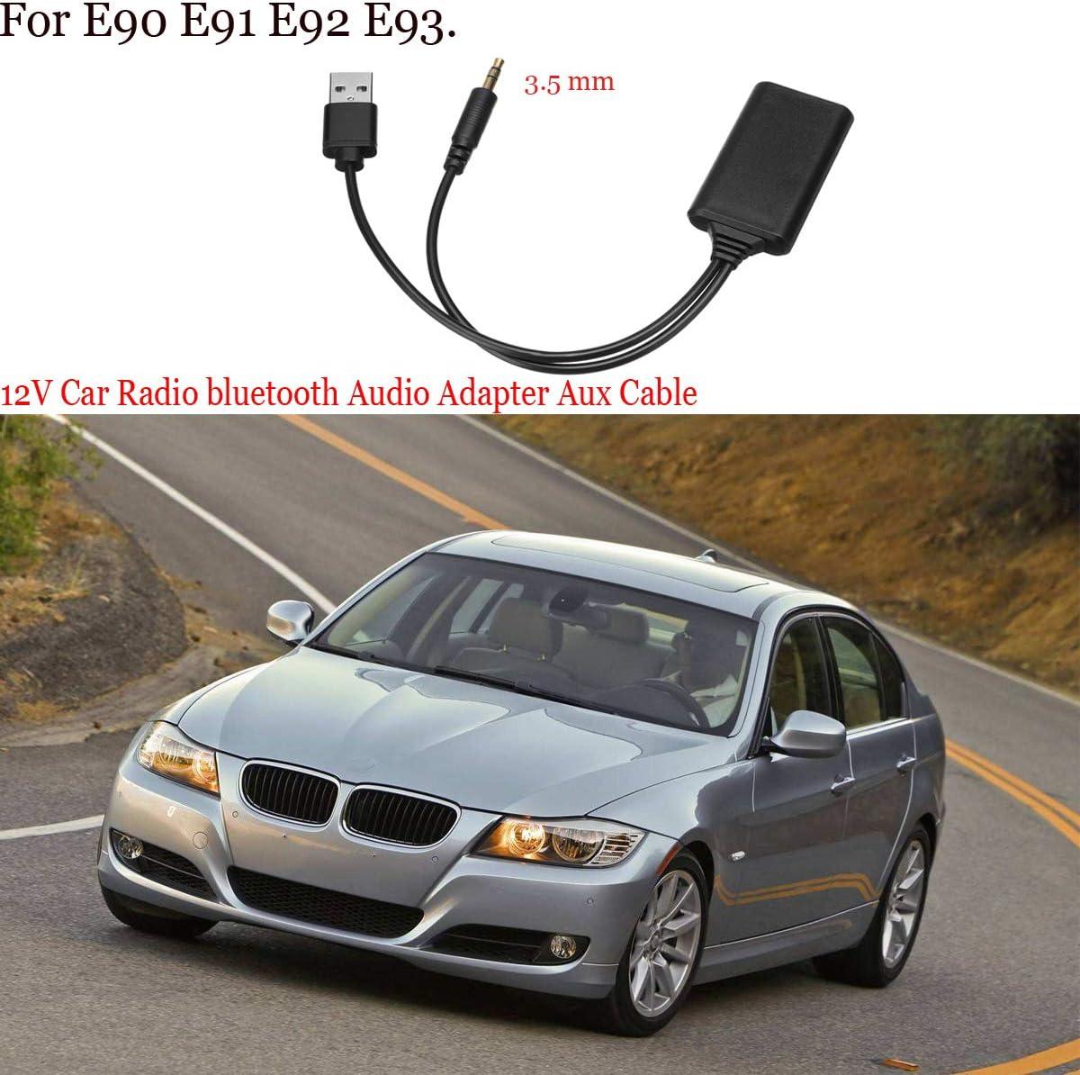 Macabolo Adaptateur Audio Bluetooth Portable 12 V pour E90 E91 E92