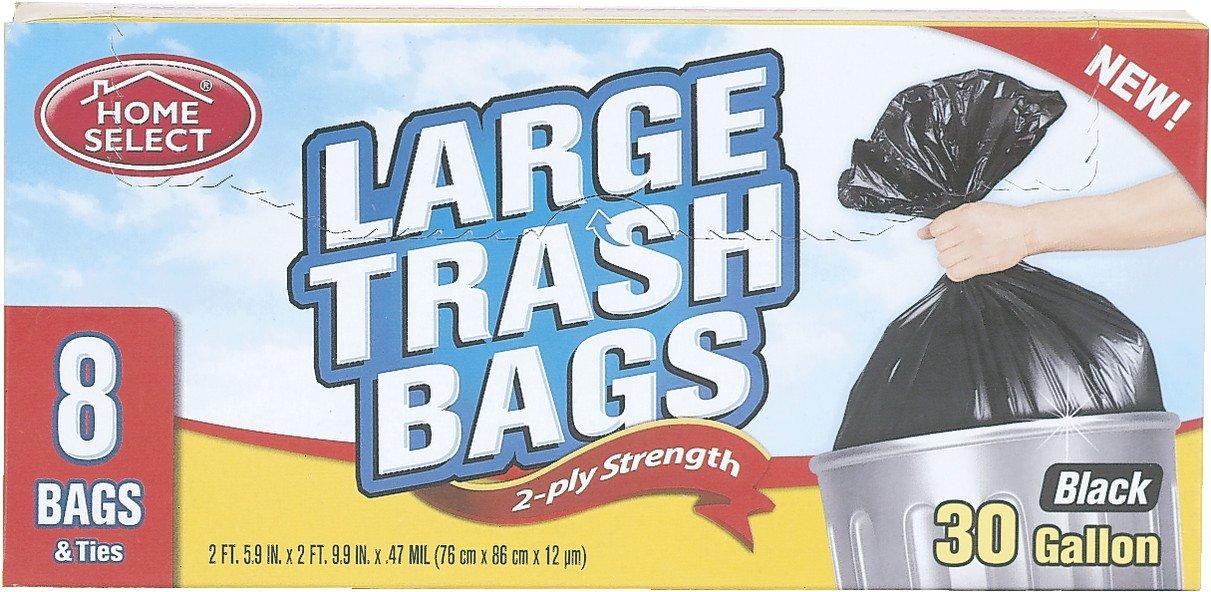 Trash Bagsブラック – 8 ct (パックof 12 ) B00PKKZJ42