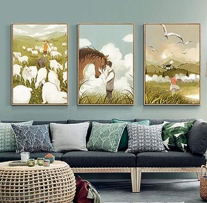 Amazon Com Wuliuqi K Japanese Style Decorative Painting Living Room