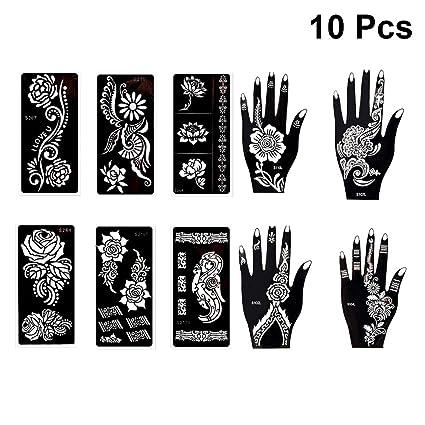 Frcolor 10 Hojas Plantillas De Plantillas De Tatuajes Patrón De