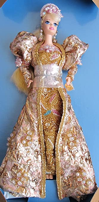 gold barbie doll