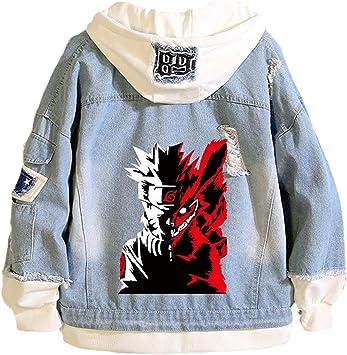 男と女の3Dプリントナルトフーディー秋冬ファッションデニムジャケットアニメうずまきナルトカジュアル長袖プルオーバートップス