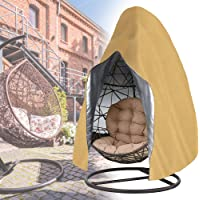 Sqodok Patio Hanging Chair Cover Waterproof, Egg Swing Chair Covers with Zipper, Outdoor Single Seat Swing Chair with…