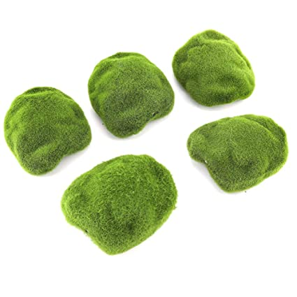 Piedra de musgo - 5 piezas Decoración de jardín DIY Simulación ...