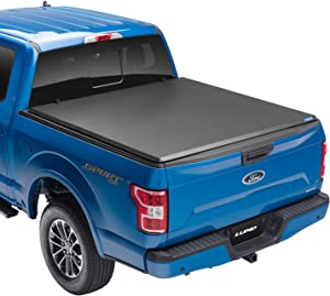 "Lund Hard Tri-Fold, Hard Folding Truck Bed Tonneau Cover | 969355 | Fits 2009 - 2014 Ford F-150 5' 5"" Bed"