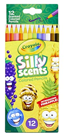 Crayola 68-2112 Silly Scent Pencils, Scented Colored Pencils, Gift for Kids, 12Count, Multicolor