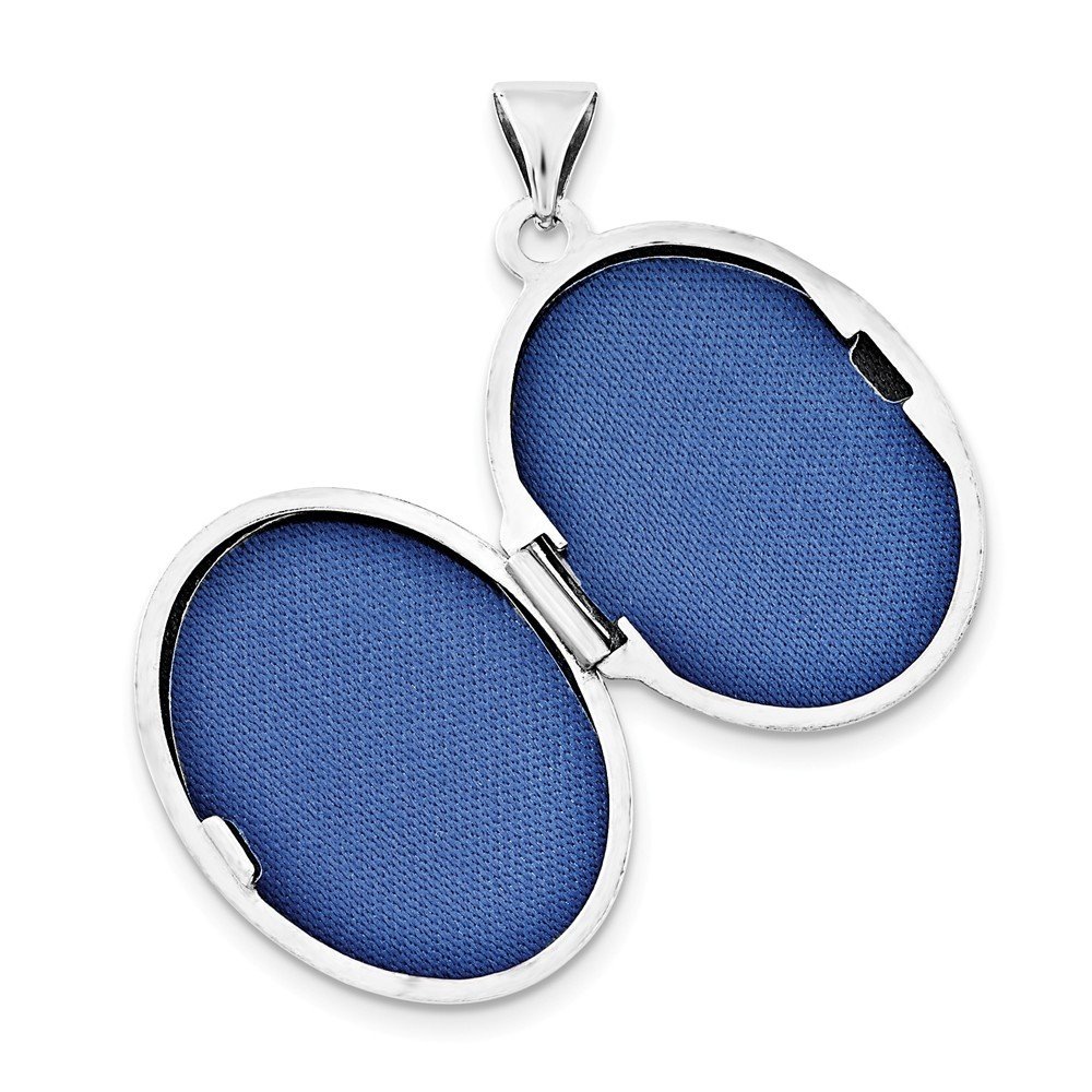 Jewel Tie Sterling Silver 21mm Oval with Butterfly /& CZ Cubic Zirconia Locket