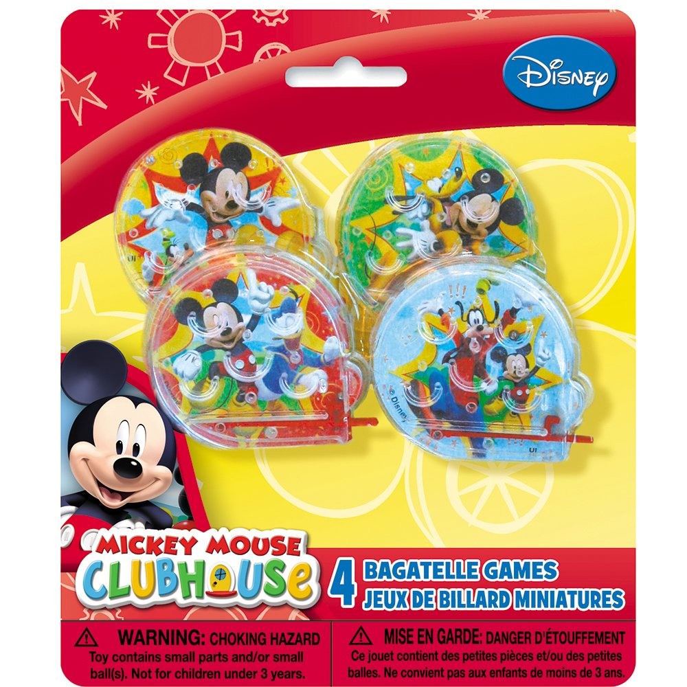 4ct Unique Party Favors 68698 Mickey Mouse Clubhouse Ball Maze Games