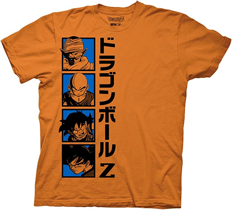 11496692 Ripple Junction Dragon Ball Z Goku and Company Adult T-Shirt XL Orange