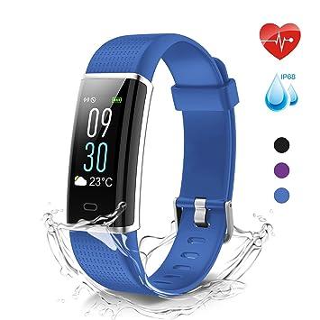MoreFit Glow Pulsera Actividad Impermeable IP68,Color Reloj Deportivo Mujer: Amazon.es: Deportes y aire libre