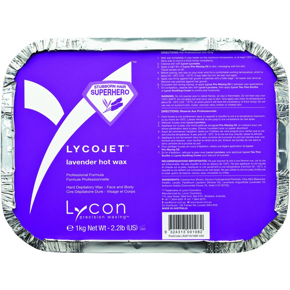 Lycon LycoJet Lavender Wax Stripless Hard Wax 35.3 oz