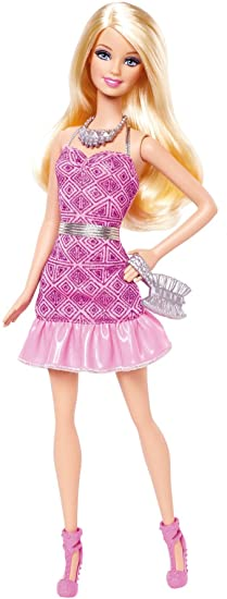 BARBIE FASHION PINK ON PINK EMBROIDERED PARTY DRESS SPECIAL OFFER +MORE