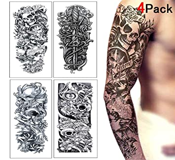 MinMochi Tatuajes Temporales Adultos Falsos Tatuajes Adhesivos ...