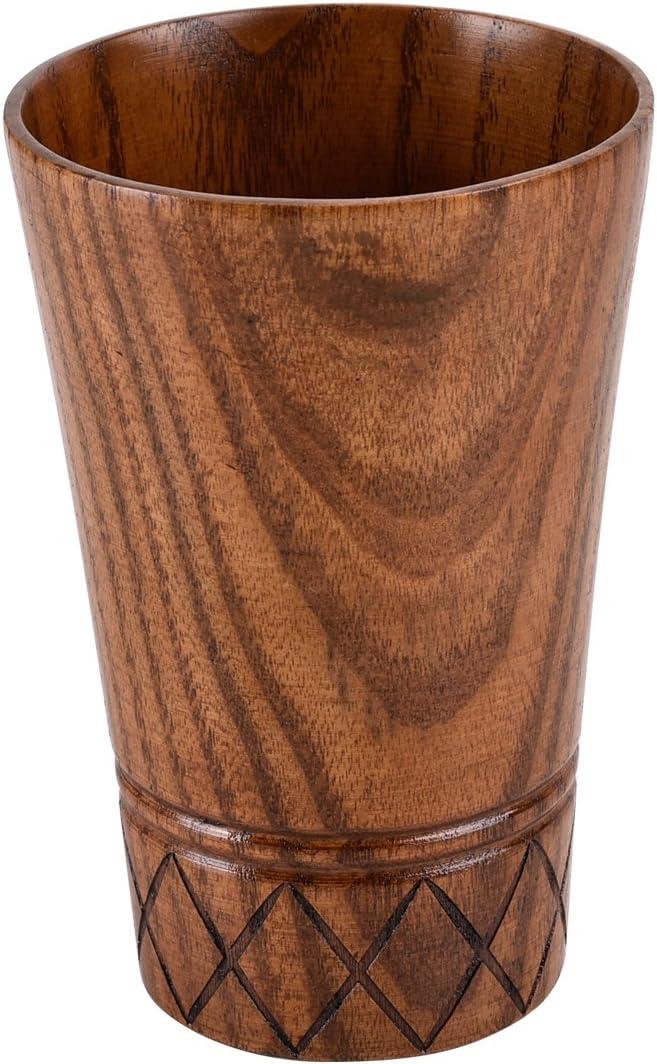 Camping handgefertigt Holztasse Teetasse tragbare Holztasse 210 ml Cup1 Nat/ürliche Massivholztasse Kaffeetasse nordischer Stil Kreative Weinfassform Holztasse
