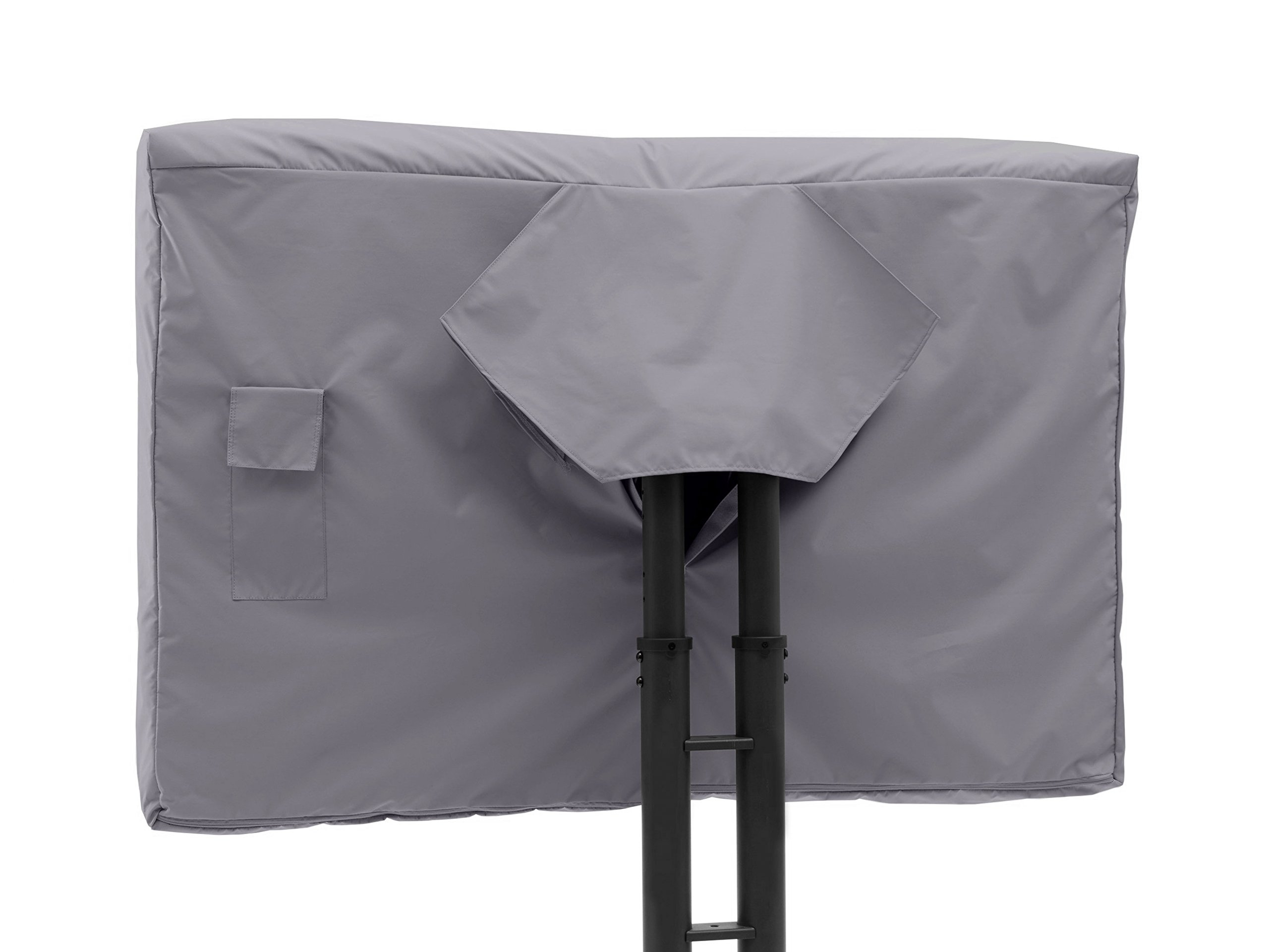 Covermates - Outdoor TV Cover - Fits 55 to 59 Inch TV's - Elite - 300 Denier Stock-Dyed Polyester - Full Coverage - Front Interior Fleece Lining - 3 YR Warranty - Water Resistant - Charcoal by Covermates