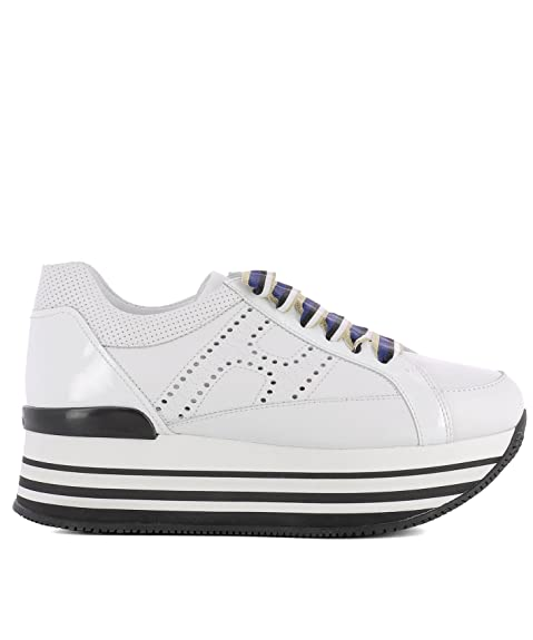 Hogan 222 scarpe donna hogan H283 maxi 222 Hogan sfod.H cucit.fo HXW2830AB50I6SB001 bianco 16a8a8