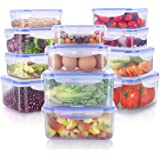 JENDEHO 24 Pieces Food Storage Containers Set - Large Capacity Meal Prep Container - Plastic Lunch Box with Lids - BPA Free &