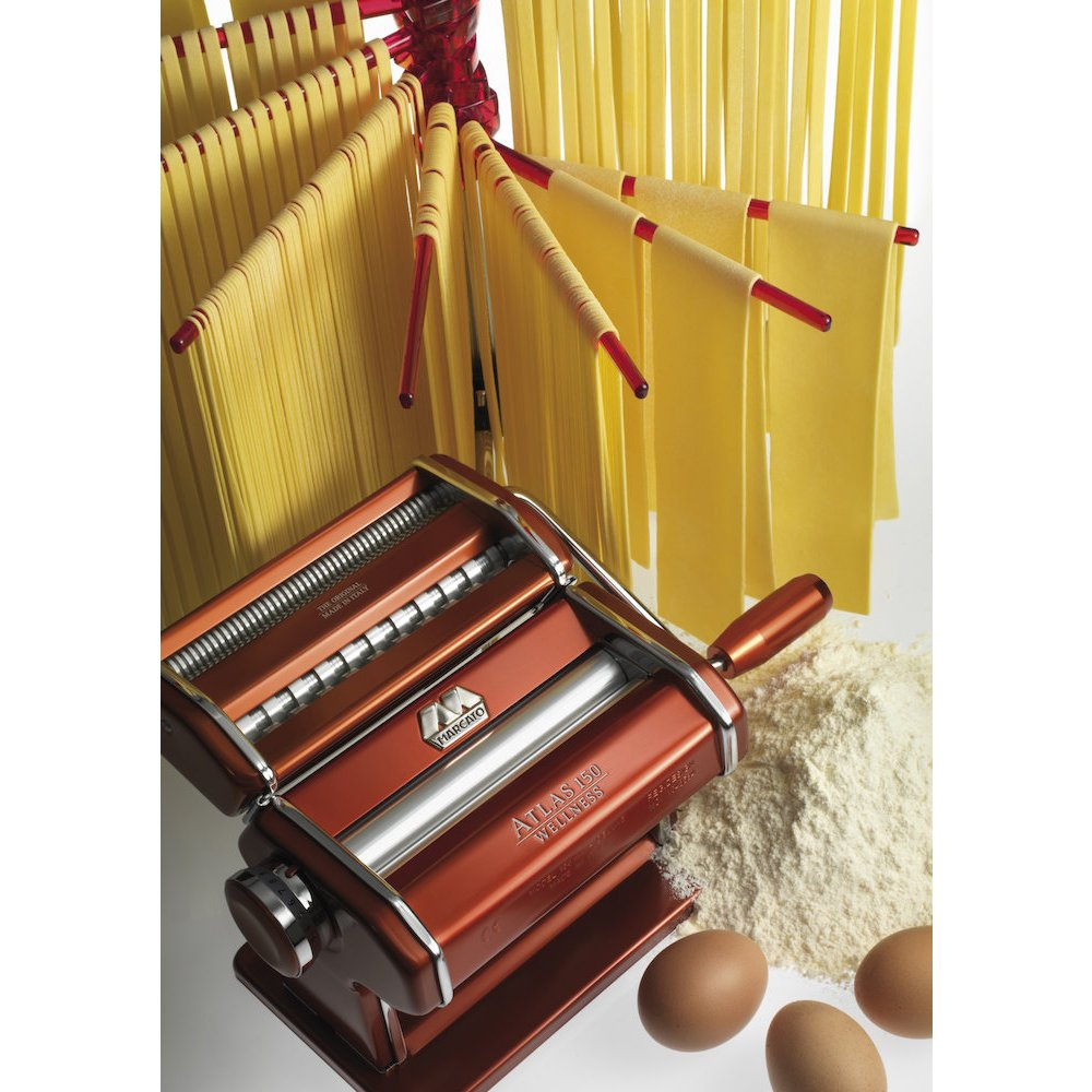 Marcato Atlas Pasta Machine, Made in Italy, Light Blue, Includes Pasta Cutter, Hand Crank, and Instructions by Marcato (Image #2)