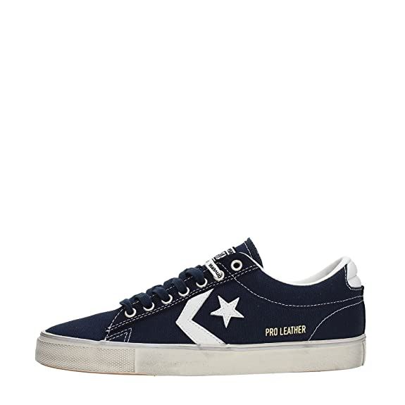 Converse Pro Leather Vulc Distress Blu, Total Eclipse, 43, Converse