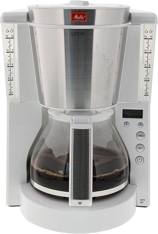 Melitta Look Timer Cafetera de Filtro, 1000 W, 1.25 litros, Acero ...