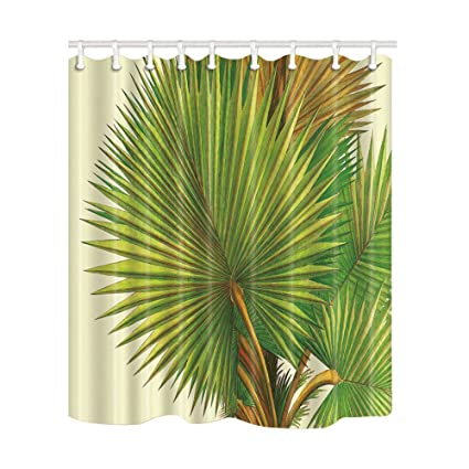 NYMB Watercolor Painting Palm Tree Shower Curtain 69X70 Inches Mildew Resistant Polyester Fabric Bathroom Fantastic Decorations