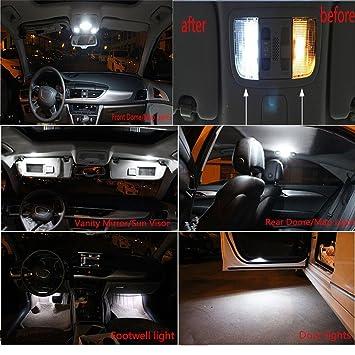Muchkey 18 piezas LED Canbus no-error libre Bombillas LED para placa de licencia Luces Bombilla ...