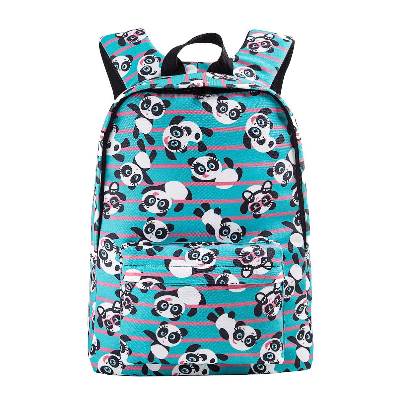 Cute Panda Backpack for Girl Boys Aqua Lightweight Canvas School Bookbag Rucksack for Kids 715-5453967