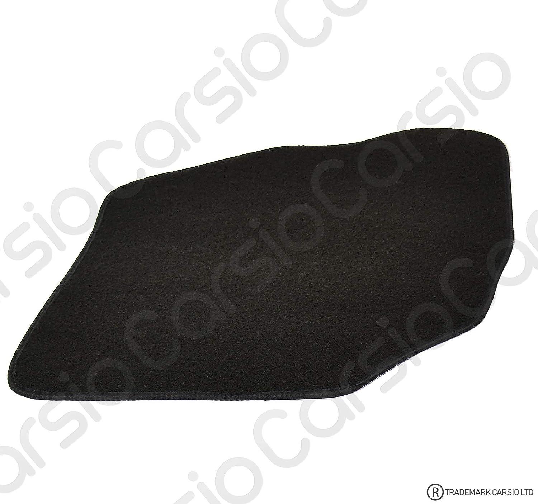 Carsio Carp Cut 2411 40 X 2 Maßgeschneiderte Schwarze Teppich Fußmatten Für Honda Jazz 2002 2008 4 Teiliges Set Mit 2 Clips Auto
