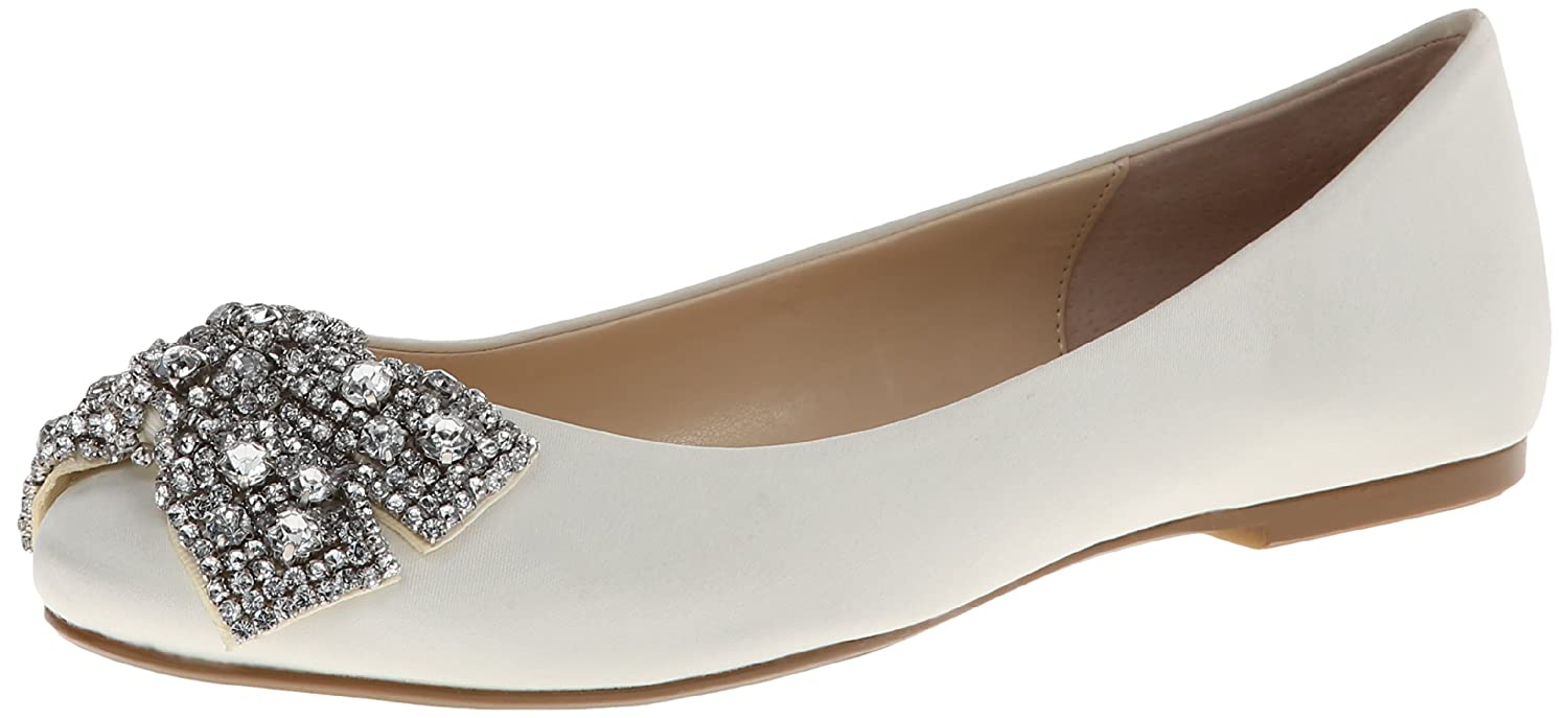 Ivory Satin Betsey Johnson bluee Women's SB Ever Ballet Flat